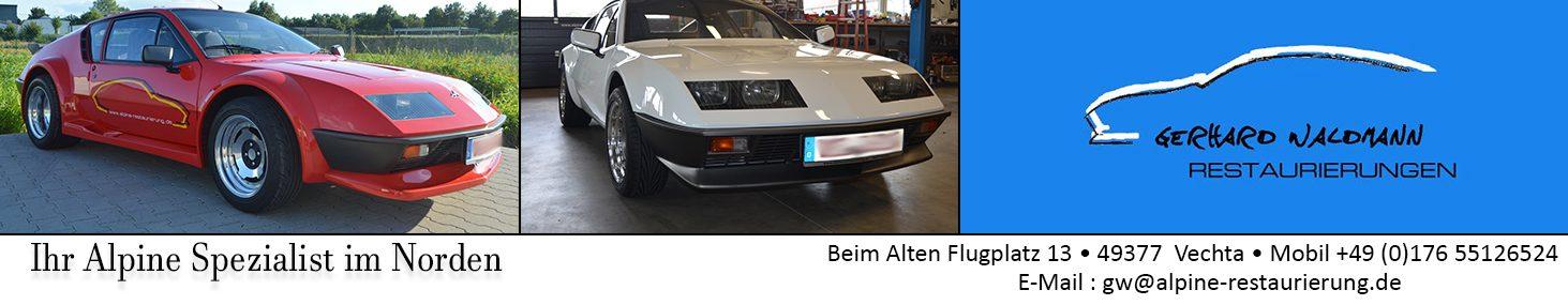 Renault Alpine Restaurierung